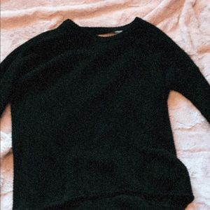 Black sweater with low back